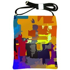 Abstract Vibrant Colour Shoulder Sling Bags by Nexatart