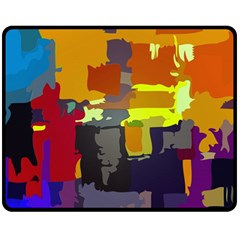 Abstract Vibrant Colour Fleece Blanket (medium)  by Nexatart