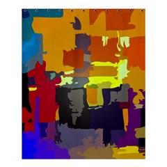 Abstract Vibrant Colour Shower Curtain 60  X 72  (medium)