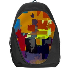Abstract Vibrant Colour Backpack Bag by Nexatart
