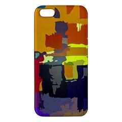 Abstract Vibrant Colour Apple Iphone 5 Premium Hardshell Case by Nexatart