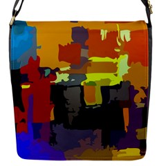 Abstract Vibrant Colour Flap Messenger Bag (s) by Nexatart