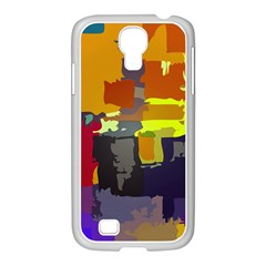 Abstract Vibrant Colour Samsung Galaxy S4 I9500/ I9505 Case (white)
