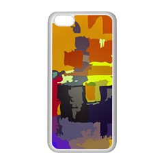 Abstract Vibrant Colour Apple Iphone 5c Seamless Case (white) by Nexatart