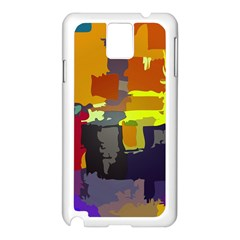 Abstract Vibrant Colour Samsung Galaxy Note 3 N9005 Case (white)