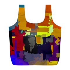Abstract Vibrant Colour Full Print Recycle Bags (l)  by Nexatart