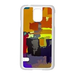 Abstract Vibrant Colour Samsung Galaxy S5 Case (white) by Nexatart
