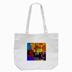 Abstract Vibrant Colour Tote Bag (white) by Nexatart