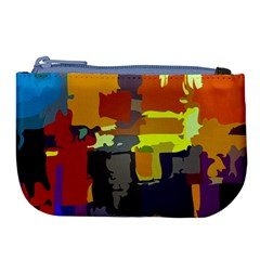 Abstract Vibrant Colour Large Coin Purse