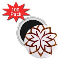 Abstract Shape Outline Floral Gold 1 75  Magnets (100 Pack)