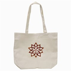 Abstract Shape Outline Floral Gold Tote Bag (cream) by Nexatart