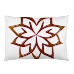 Abstract Shape Outline Floral Gold Pillow Case by Nexatart