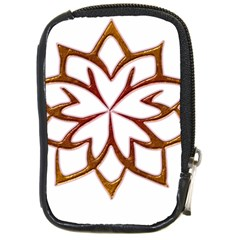 Abstract Shape Outline Floral Gold Compact Camera Cases