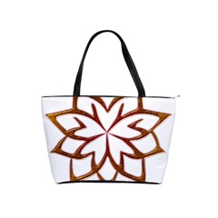 Abstract Shape Outline Floral Gold Shoulder Handbags