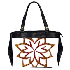 Abstract Shape Outline Floral Gold Office Handbags (2 Sides)  by Nexatart