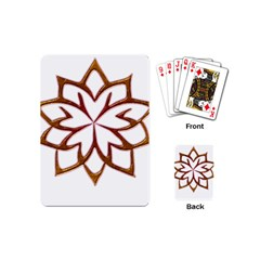 Abstract Shape Outline Floral Gold Playing Cards (mini)