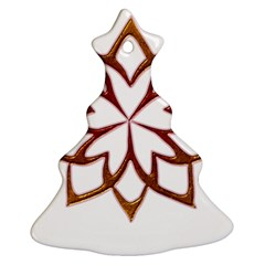 Abstract Shape Outline Floral Gold Ornament (christmas Tree)