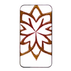 Abstract Shape Outline Floral Gold Apple Iphone 4/4s Seamless Case (black) by Nexatart