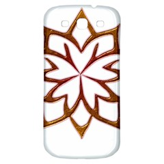 Abstract Shape Outline Floral Gold Samsung Galaxy S3 S Iii Classic Hardshell Back Case by Nexatart