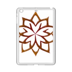 Abstract Shape Outline Floral Gold Ipad Mini 2 Enamel Coated Cases