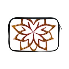 Abstract Shape Outline Floral Gold Apple Ipad Mini Zipper Cases by Nexatart