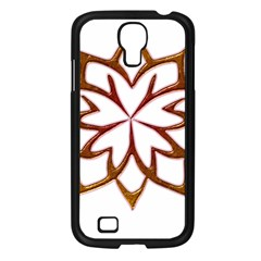 Abstract Shape Outline Floral Gold Samsung Galaxy S4 I9500/ I9505 Case (black) by Nexatart