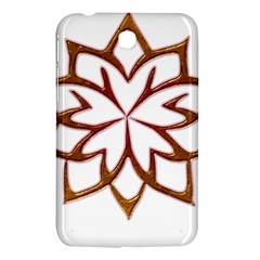 Abstract Shape Outline Floral Gold Samsung Galaxy Tab 3 (7 ) P3200 Hardshell Case  by Nexatart