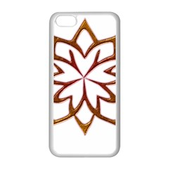 Abstract Shape Outline Floral Gold Apple Iphone 5c Seamless Case (white)