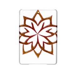 Abstract Shape Outline Floral Gold Ipad Mini 2 Hardshell Cases by Nexatart