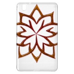 Abstract Shape Outline Floral Gold Samsung Galaxy Tab Pro 8 4 Hardshell Case