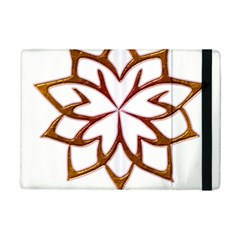 Abstract Shape Outline Floral Gold Ipad Mini 2 Flip Cases by Nexatart