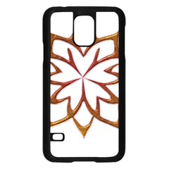 Abstract Shape Outline Floral Gold Samsung Galaxy S5 Case (black) by Nexatart