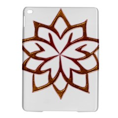 Abstract Shape Outline Floral Gold Ipad Air 2 Hardshell Cases