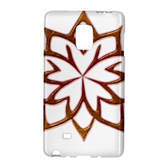 Abstract Shape Outline Floral Gold Galaxy Note Edge by Nexatart