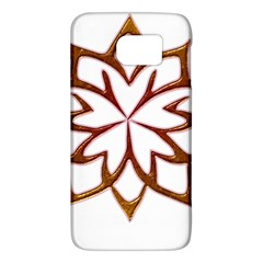 Abstract Shape Outline Floral Gold Galaxy S6 by Nexatart