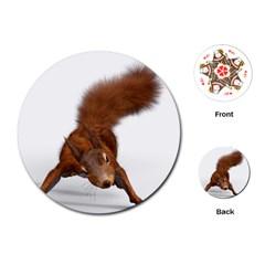 Squirrel Wild Animal Animal World Playing Cards (round)