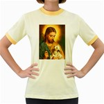 Jesus_078 Women s Fitted Ringer T-Shirt