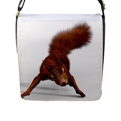 Squirrel Wild Animal Animal World Flap Messenger Bag (l)