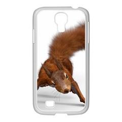 Squirrel Wild Animal Animal World Samsung Galaxy S4 I9500/ I9505 Case (white) by Nexatart
