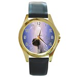 Jesus_078 Round Gold Metal Watch