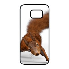 Squirrel Wild Animal Animal World Samsung Galaxy S7 Edge Black Seamless Case