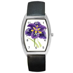 Lily Flower Plant Blossom Bloom Barrel Style Metal Watch by Nexatart