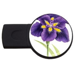 Lily Flower Plant Blossom Bloom Usb Flash Drive Round (4 Gb)