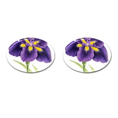 Lily Flower Plant Blossom Bloom Cufflinks (oval)