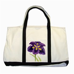 Lily Flower Plant Blossom Bloom Two Tone Tote Bag by Nexatart