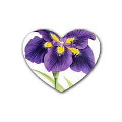 Lily Flower Plant Blossom Bloom Rubber Coaster (heart)  by Nexatart