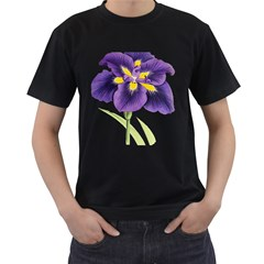 Lily Flower Plant Blossom Bloom Men s T Shirt (black)