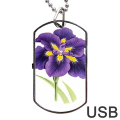 Lily Flower Plant Blossom Bloom Dog Tag Usb Flash (one Side) by Nexatart