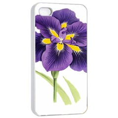 Lily Flower Plant Blossom Bloom Apple Iphone 4/4s Seamless Case (white)
