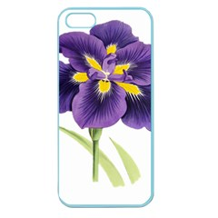 Lily Flower Plant Blossom Bloom Apple Seamless Iphone 5 Case (color)